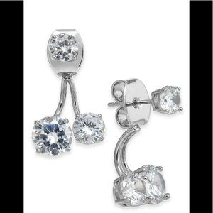 Crystal Front-and-Back Earrings